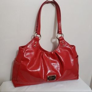 🌸Nine West Cherry Red Patent Leather Shoulder Bag